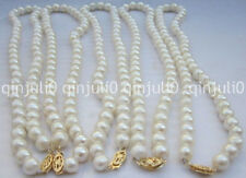 Hot ! Fashion 8-9mm 5PCS Akoya white Cultivation pearl necklace 18'' JN2262