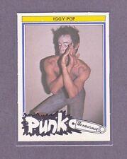 1977 Iggy Pop Rare Holland Dutch Monty Punk New Wave Rock Music Card Nrmt