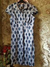 Vivienne Westwood Anglomania gingham ink dress petite size 4/6...