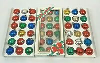 Vintage Christmas Ornaments Glass Balls Multi Color 3 Sets Boxed Lot 54 USA
