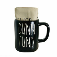 Rae Dunn Artisan Collection Dunn Fund Ceramic Coffee Mug & Dish Towel Set