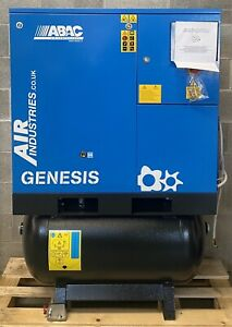 ABAC Genesis 11 Receiver Mounted Rotary Screw Compressor + Dryer + Filter! 53Cfm