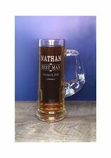 MUSCLE MUG Beer Mug, Arm Handle, Engraved, Personalized, 1 Mug, 21 oz, Groom