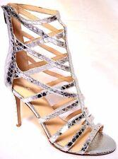 Nine West Shoes Sz 9.5 / 41 Sari Silver Faux Snake Stiletto HEELS