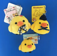 A pair of San-X 6cm Rilakkuma Kiiroitori Chick mascot chain plush with FREE GIFT