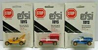 EFSI T-FORD 1:62 SCALE LOT OF 3 / USED BUT COME ON THE CARD / MADE IN HOLLAND