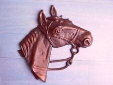 Wanddekoration Pferd Kupfer Pferdebild aus Metall Pferdekopf Metallbild Bronze