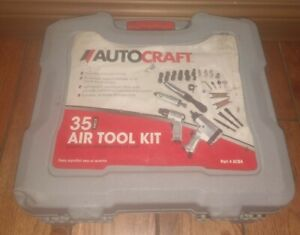 BRAND NEW only used 1 tool twice AutoCraft 35 Piece Air Tool Kit AC84 gr8 tools