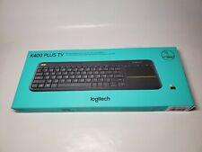 Brand NEW - Logitech K400 Plus Meyboard RF Wireless - Black TouchPad