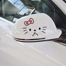 Rearview mirror 2pcs Hello Kitty cartoon vehicle random car stickers wall decals
