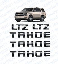 5x  Gloss Black TAHOE Nameplate EMBLEM Letter for GM 07-16 Chevrolet USA LTZ