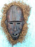 Vintage African Tribal Mask Democratic Republic of Congo No.2 Primitive