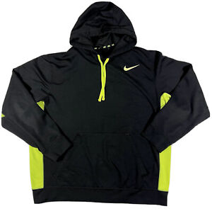 Nike Therma Fit Neon Green Hoodie Sweater Men's Size XL B6