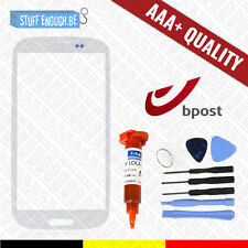 AAA+ GLASS/FRONT GLAS WHITE + TOOLS & REPAIR GLUE FOR SAMSUNG GALAXY S3 I9300