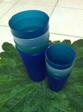 New 8 HD Designs Plastic Tumbler Drinking Glasses Blue Green Clear 21 oz 8.4 oz