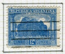 ARGENTINA;   1926 early Postal Centenary issue used 12c. value