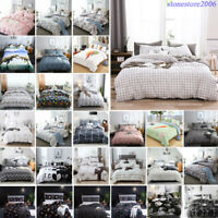 Reversible Printed Bedding Set Quilt Duvet Cover Comforter Pillow Cases All Size