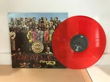 THE BEATLES - SGT PEPPER- LIKE NEW 180G RED COLORED VINYL LP RECORD