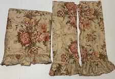 RALPH LAUREN GUINEVERE QUEEN FLAT RUFFLED SHEET set 2 Pillowcases Shams