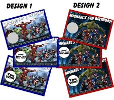 THE AVENGERS SCRATCH OFF OFFS PARTY GAME GAMES CARDS & BIRTHDAY FAVORS