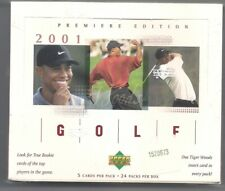 2001 Upper Deck GOLF Masters Champ TIGER WOODS ROOKIE 24 PACK BOX SEALED MINT
