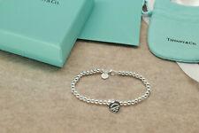 "Tiffany & Co Solid Sterling Silver Bracelet Medium 7.25"" Free USA SHIPPING"