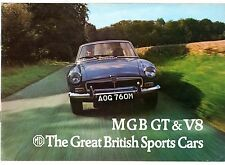 MG MGB GT & GT V8 1973-74 UK Market Sales Brochure