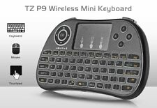 Wireless Mini Keyboard with Mouse Touchpad  -  BLACK