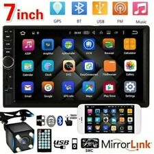 "7"" Double 2 DIN Car Stereo Radio MP5 Touch Screen Bluetooth FM USB + Rear Camera"
