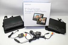 "Insignia 9"" Dual Screen Portable DVD Players NS-DS9PDVD15 - (IN ORIGINAL BOX)"