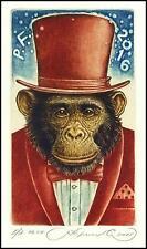 Kirnitskiy Sergey 2015 Exlibris C4 Year of Monkey Ape At Affe Chimpanzee 234