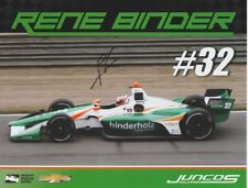2018 Rene Binder signed Juncos Racing 2nd issued Chevy Dallara Indy Car postcard