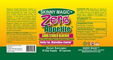 Zero Appetite Control Carb Blocker 90 Count Weight Loss Diet Pills Slim Skinny