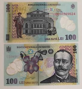Romania 100 Lei - 2016 series GEM UNC polymer banknote.