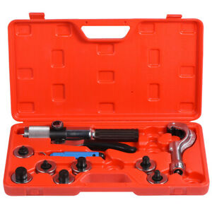 CT - 300A Hydraulic Tube Expander Kit Tubing Swaging Tool + 7 Expander Heads