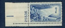 1085 Children Of The World Single W/Plate Number Mint/nh (free shipping offer)