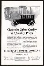 1923 CHEVROLET Superior 5 Passenger Sedan Antique Vintage Original Print AD