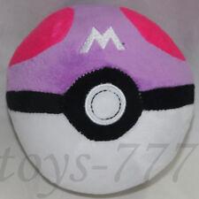 "Pokemon Master Ball 5"" Stuffed Animal Nintendo Pokeball Cartoon Plush soft Toy"