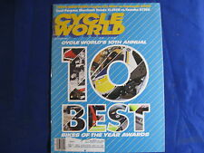 CYCLE WORLD magazine-OCT 1985-10 BEST BIKES OF YEAR-CAGIVA WMX125-BMW R80RT-KX12