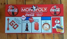 New Hasbro Coca Cola Monopoly Opened Box Sealed Pieces Game 1999 Collectors Ed