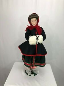 Dept 56 DEPARTMENT 56 Dickens MAMA SMYTHE Skater PORCELAIN DOLL In Box