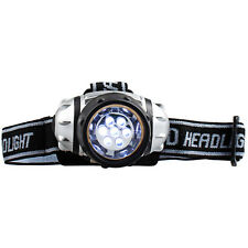 7 LED Adjustable Headband Light Camping Walking Hands Free Safety Torch 4 Modes