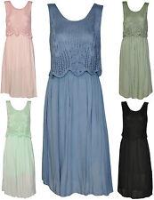 Strandkleid Damenkleid Damen Kleid Blumen Spitze Netz Häckel Sommer 40 42 44