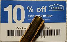 Twenty (20) LOWES Coupons 10% OFF AtCompetitors ONLY notAt Lowes Exp Sep15 2021
