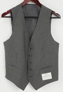 New Perry Ellis Portfolio Men's Small Gray Herringbone Performance Dress Vest