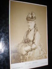 Cdv old photograph Opera soprano Mathilde Sessi by London Stereoscopic 1870s