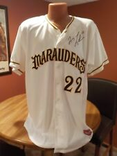 2007 BRADENTON MAURAUDERS QUINCY LATIMORE GAME USED AUTOGRAPH GAME JERSEY BUCS