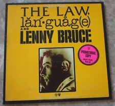 The Law, Language & Lenny Bruce 1974 LP Vinyl EX Nice Original Promo SP 9101
