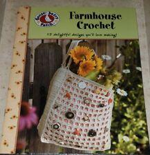 AG047 LEISURE ARTS 2009, GOOSEBERRY PATCH FARMHOUSE CROCHET ~ 15 FUN DESIGNS