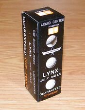 Lynx Fast As A Wild Cat ~ Cut-Proof Golf Balls Liquid Center Non Yellowing Cover